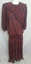 Vintage Diane Freis Georgette dress size medium large