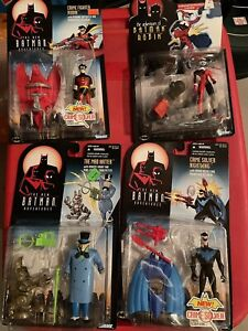 Kenner The New Adventures of Batman: Harley Quinn Mad Hatter Robin Nightwing Lot