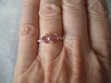 Padparadscha Sapphire ring, 1.29 carats, size N/O, 1.74 grams of 9K Rose Gold