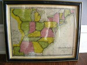 Rare Collectible 1816 John Melish Map Of The United States