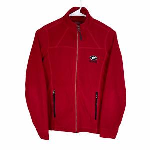 Georgia Bulldogs Lightweight Full Zip Fleece Jacket XS Red Black Dawgs UGA