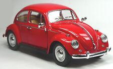 Klassiker: VW Käfer (1967) 1:24 rot Modellauto ca. 17cm KINSMART Neuware!