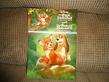 Disney Movie Club 3D Lenticular Fox And The Hound 1 & 2 I & Ii Collector'S Card