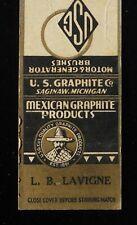 1930s Mexican Graphite Products Lavigne U. S. Graphite Co. Est. 1891 Saginaw MI