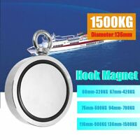 160/500/1500KG Double Side Neodymium Metal Magnet Detector Fishing Hunting