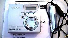 VINTAGE SONY MD MINIDISC WALKMAN RECORDER MZ-NF610 with AM/FM radio