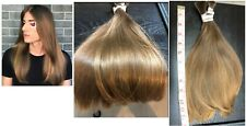 Human Hair Cut 13 inch From Young Guy, Light Brown Highlights with Medium Brown