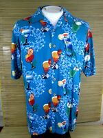 Mens CHEROKEE Hawaiian ALOHA shirt M 23 pit to pit rayon cocktails tropical luau