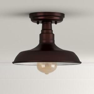 """Design House Kimball 8""""x11"""" Indoor 1-Light Textured Coffee Bronze Ceiling Mount"""