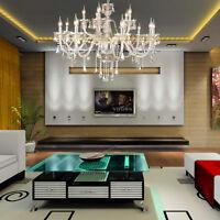 15 Feux Cristal Lampe Lustre Plafonnier SuspensionLluminaire Pendentif Light
