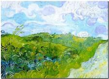 Vincent Van Gogh *FRAMED* CANVAS ART Green Wheat fields 20x16""