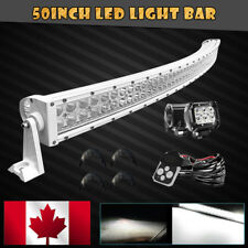 """50"""" 288W White Curved LED Light Bar +Wiring Fit For 2007-2017 Toyota Tundra 52"""