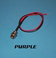 LED - 5mm PRE WIRED 12 VOLT WITH CHROME BEZEL - PURPLE PREWIRED