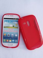 COQUE GALAXY S3 MINI (SIII) I8190, HOUSSE CASE COVER ETUI SOUPLE S-LINE ROUGE