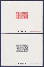 épreuve de luxe   paire Europa     de  1965   num: 1455/56