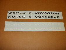 Schwinn White World Voyageur Bicycle Downtube Decal Set