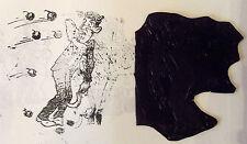 ANCIEN CLICHÉ IMPRIMERIE  MÉTAL CARICATURE 1900/1930 JETÉE DE TOMATES