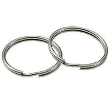 METAL LOOP RING KEYRING KEYRINGS 25 mm NICKEL SPLIT RING HOOP PACK 10