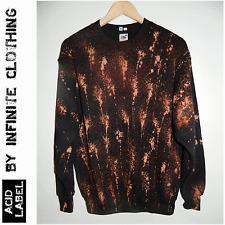 Tie dye acid wash jumper sweatshirt Grunge trash punk dirty Hipster 90s sweater