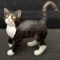 BREYER REEVES COMPANION ANIMAL #1511 SILVER TABBY CAT FIGURE 1999 BLACK WHITE