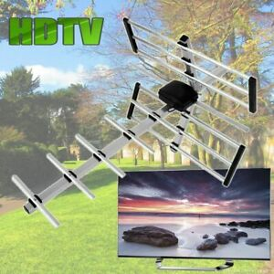 MediaVISION-100 Mile HDTV 1080P Outdoor Amplified Digital Antenna-360 Rotor
