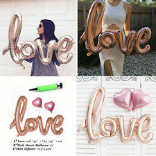 LOVELY LOVE LETTER HEART FOIL BALLOON ANNIVERSARY WEDDING VALENTINES PARTY DECOR