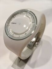 NWT Philippe Starck PH5037 White Mystery Watch, Analog, Urethane Works Perfectly