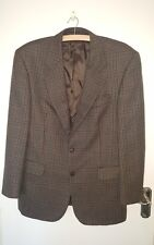 100% WOOL SIZE 40R DUNN & CO MENS GREEN/MULTI CHECK LIGHT WEIGHT JACKET