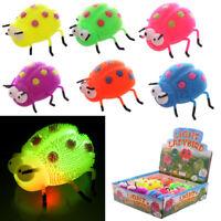 Fun Kids Light Up Squidgy Ladybird Puff Pet Party Bag Stocking Filler Toy Gift