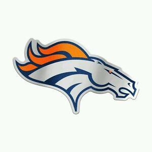 """DENVER BRONCOS AUTO BADGE CAR DECAL EMBLEM 3""""X5"""" NFL LICENSED USA SELLER"""