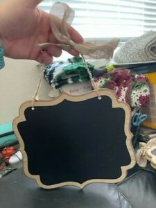 Amscan Rectangle Wooden Chalkboard Sign Decoration Brown Trim New!!!