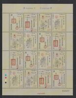 China Macau 2018 Mini S/S Chapas Sinicas Chinese Documents stamp 漢文文書