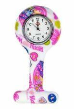 Enfermera Reloj Rosa Nuevo Diseño Silicona Broche Túnica de Bolsillo + Libre