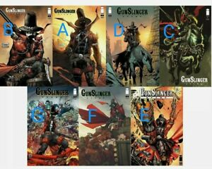 GUNSLINGER SPAWN #1 LOT OF ALL 7 MAIN COVERS - A/B/C/D/E/F/G * In Hand*
