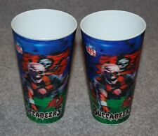 TWO TAMPA BAY BUCCANEERS NFL FOOTBALL SPORTS 3-D CUPS