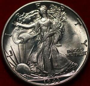 Uncirculated 1943-D Denver Mint Silver Walking Liberty Half