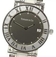 TIFFANY&CO Atlas Date Gray dial Stainless Steel Quartz Men's Wrist Watch_433577