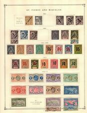 St Pierre Miquelon Collection from Excellent Scott Intern Album 1840-1940