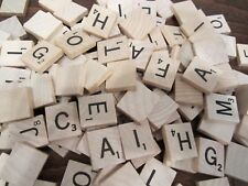 Random LOT of 1000 Wood Letter SCRABBLE TILES  Jewelry   Scrapbooking