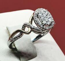 Propose engagement diamond White Gold Band Ring diamond ring Wedding ring size 8