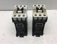 Lot of 2 FUJI SC-E02/G-24VDC CONTACTOR 20A 3 POLE