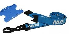 NHS Blue Double Sided ID Card Holder & NHS Premium Soft Neck Breakaway Lanyard