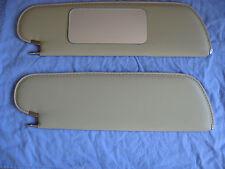 1970-72 skylark  GS single pin stile sun visors with vanity mirror sandalwood