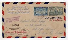 A3708) USA 1937 Reg. AM Cover NY to Guatemala City