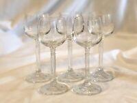 Set Of 5 Vintage Crystal Elegant Stemmed Cordial Aperitif Glasses 2 Oz. MCM