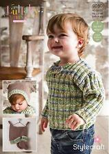 Stylecraft 9280 Knitting Pattern Baby Child Sweater Hat & Bootees in DK
