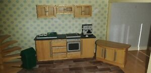 Doll House Modern Kitchen 1:12th Scale with accessories
