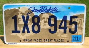 SOUTH DAKOTA License Plate MOUNT RUSHMORE GREAT FACES (RANDOM PLATE#)