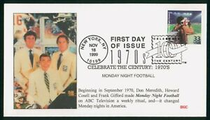 MayfairStamps US FDC Unsealed 1999 Monday Night Football Celebrate the Century 1
