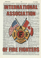 Firefighter/'s Noble Call Poem by Jason Bullard Print 12x36